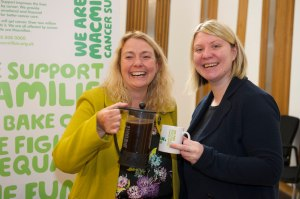 With Janice Preston, General Manager of Macmillan in Scotland