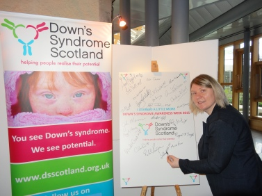 Siobhan McMahon MSP - Down's Syndrome Awareness Week Picture